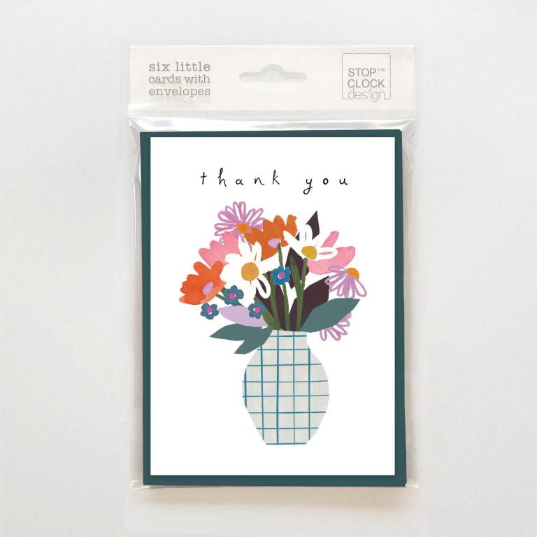 Thank You Flowers in Vase Pack of 6 Cards