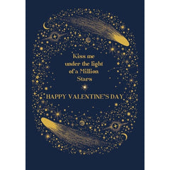 Kiss Me Under the Stars Valentine's Day Card