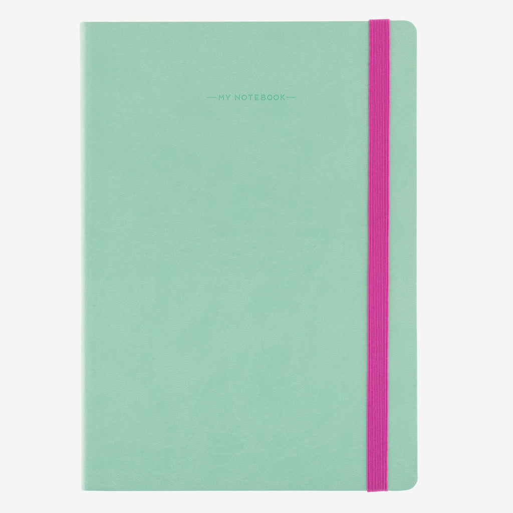 Large Plain Aqua Notebook