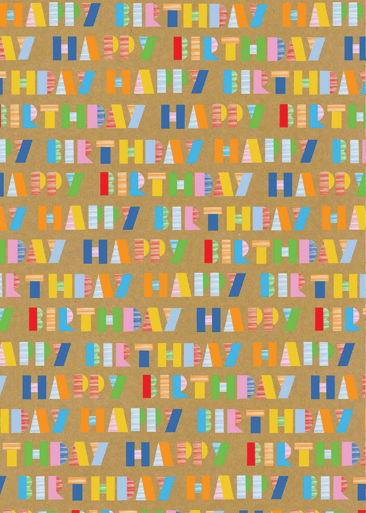 Happy Birthday Bright Craft Sheet Wrap