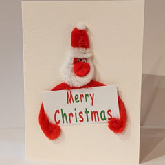 Puffy Santa Christmas Card