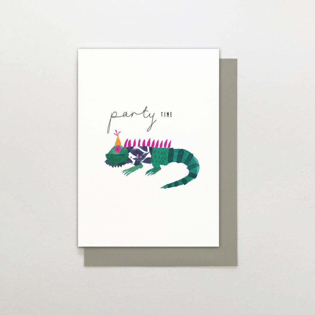 Party Time Lizard Card