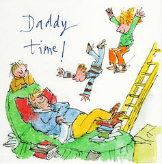 Daddy Time Father's Day Card blue
