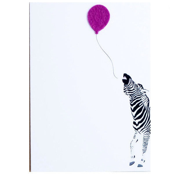 Party Zebra Birthday Card