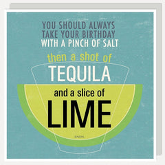 Salt, Tequila, Lime Birthday Card