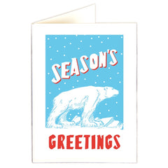 Season's Greetings Polar Bear Pack of 5 Cards