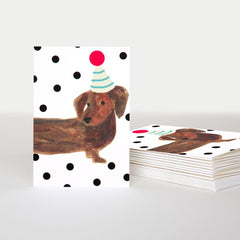Sausage Dog Pack of 10 Cards