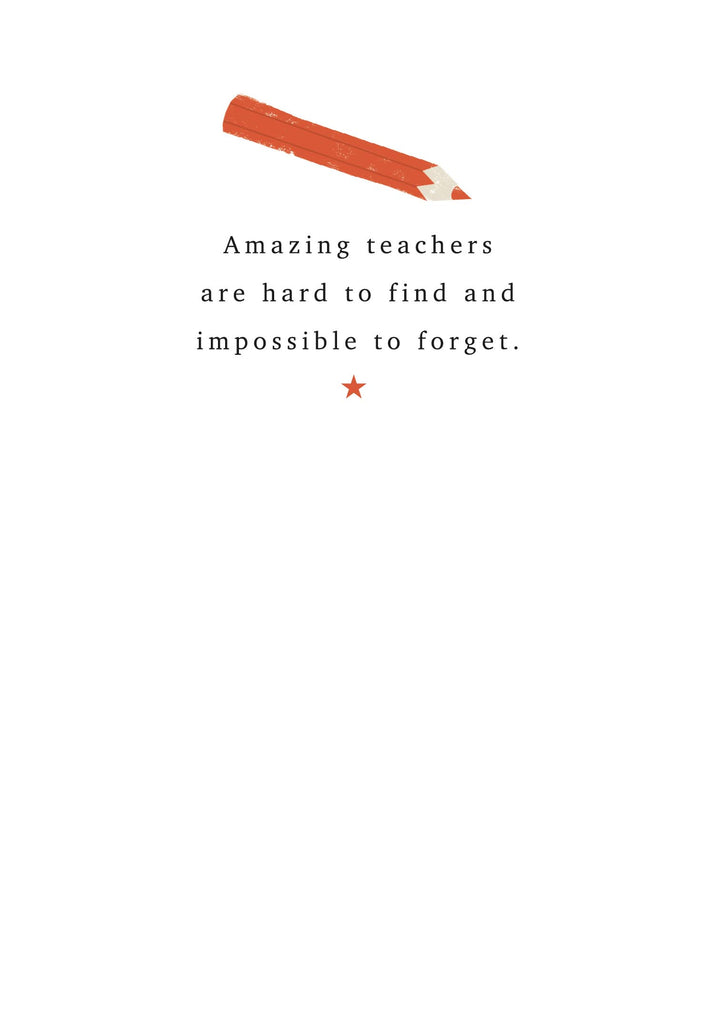 Amazing Teacher Card