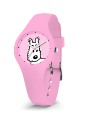 Tintin Watch - Snowy in Pink