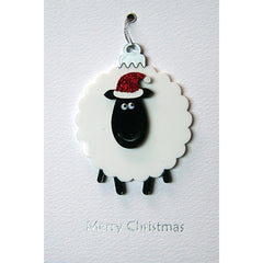 Sheep Bauble Christmas Card