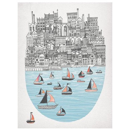 Boats by Joppa Card