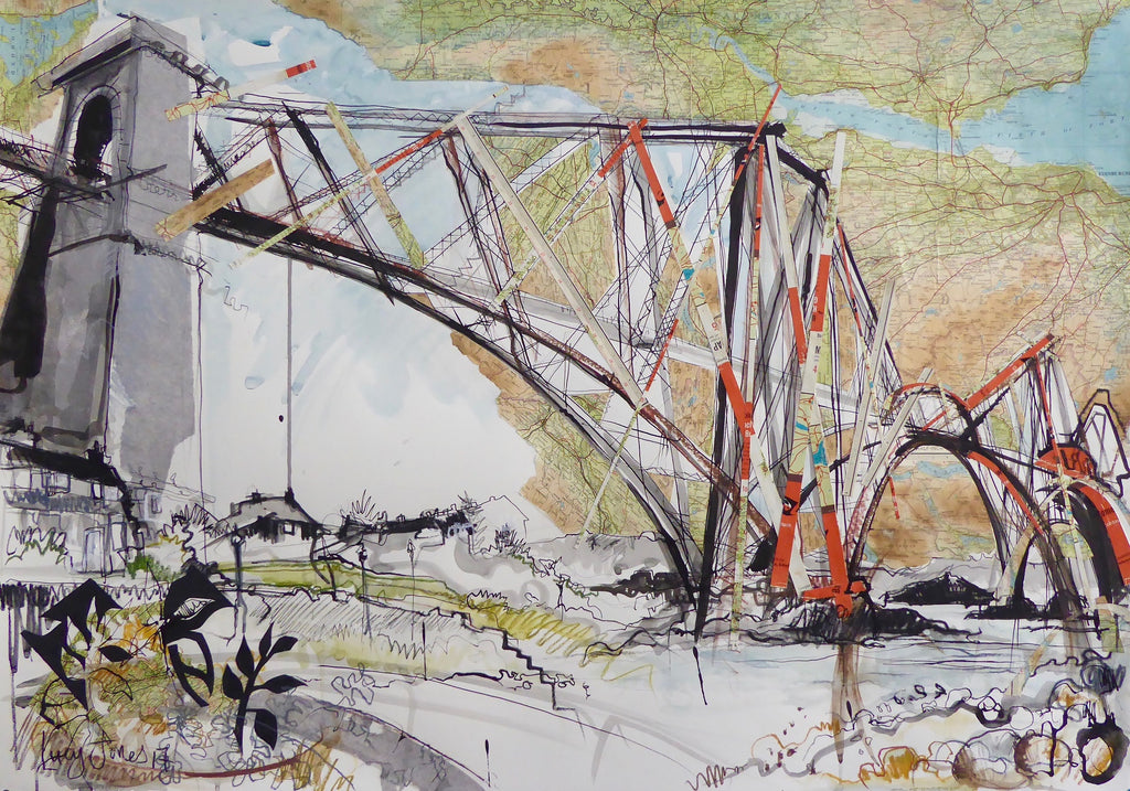 Forth Rail Bridge Too Card by Lucy Jones