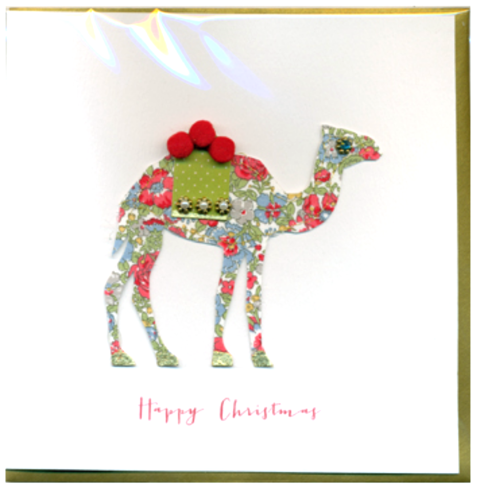 Collage Camel Christmas Card