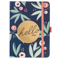 Busy B A6 To Do Diary 2021 Floral