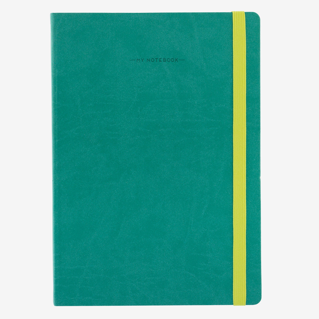 Large Lined Turquoise Notebook