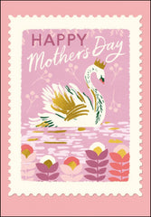 Happy Mother's Day Queen for the Day Foiled Swan Card