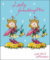 Grandaughter Little Princes Christmas Card