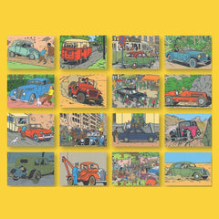 Tintin Cars Postcard Book