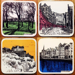 Edinburgh Sketcher Coasters Pack of 4