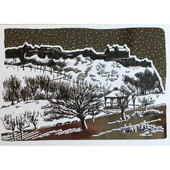 Edinburgh Castle Christmas Foiled Card