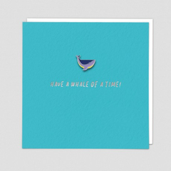 Whale Pin Badge Card