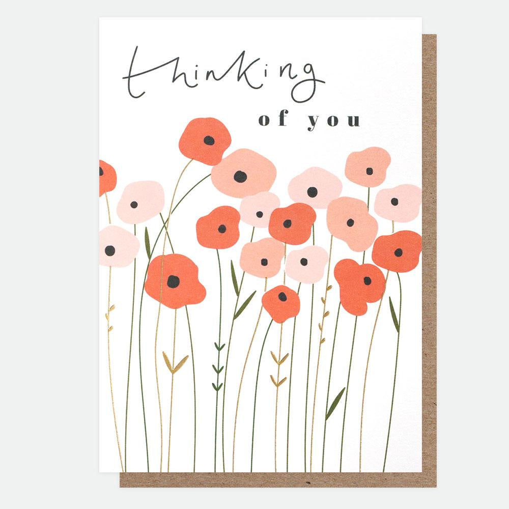 Thinking of you Poppies Card