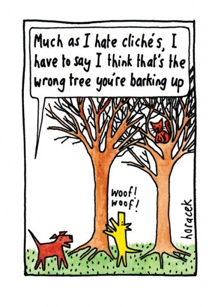 Barking up the Wrong Tree Dog Card
