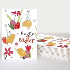 Happy Easter Chicks Pack of Ten Cards