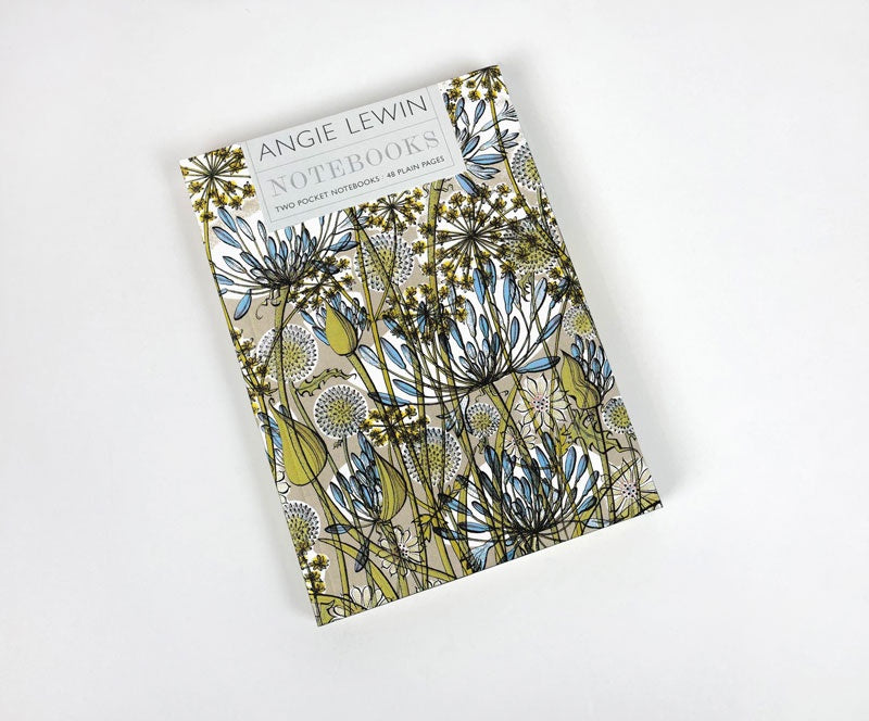 'Wild Shore' & 'The Walled Garden' Notebooks by Angie Lewin