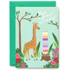 Have A Sweet Birthday Giraffe Card