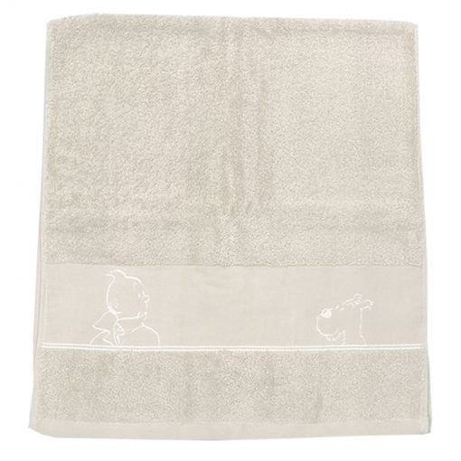 Tintin Shower Sheet Platinum Towel