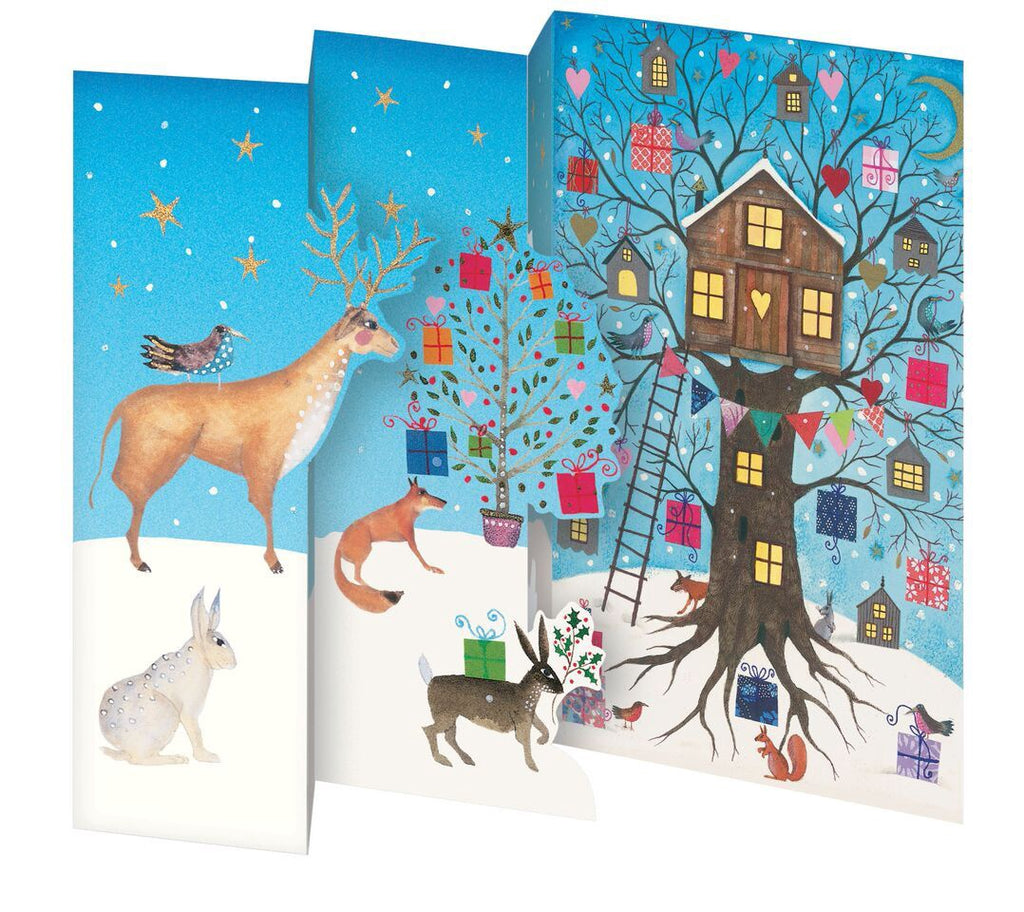 Christmas Treehouse Trifold Card Pack