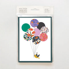 Bird and Balloons Pack of 6 Cards