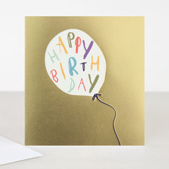 Birthday Balloon Gold Card