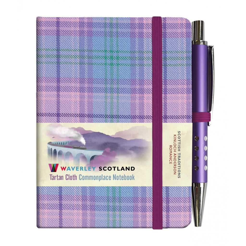 Mini Tartan Notebook with Pen - Romance