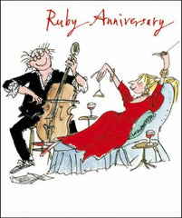 Making Music Quentin Blake Ruby Anniversary Card