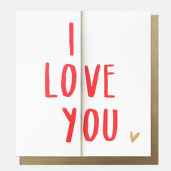 I Love You Fold Out Valentine's Day Card