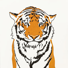Tiger Letterpress Card