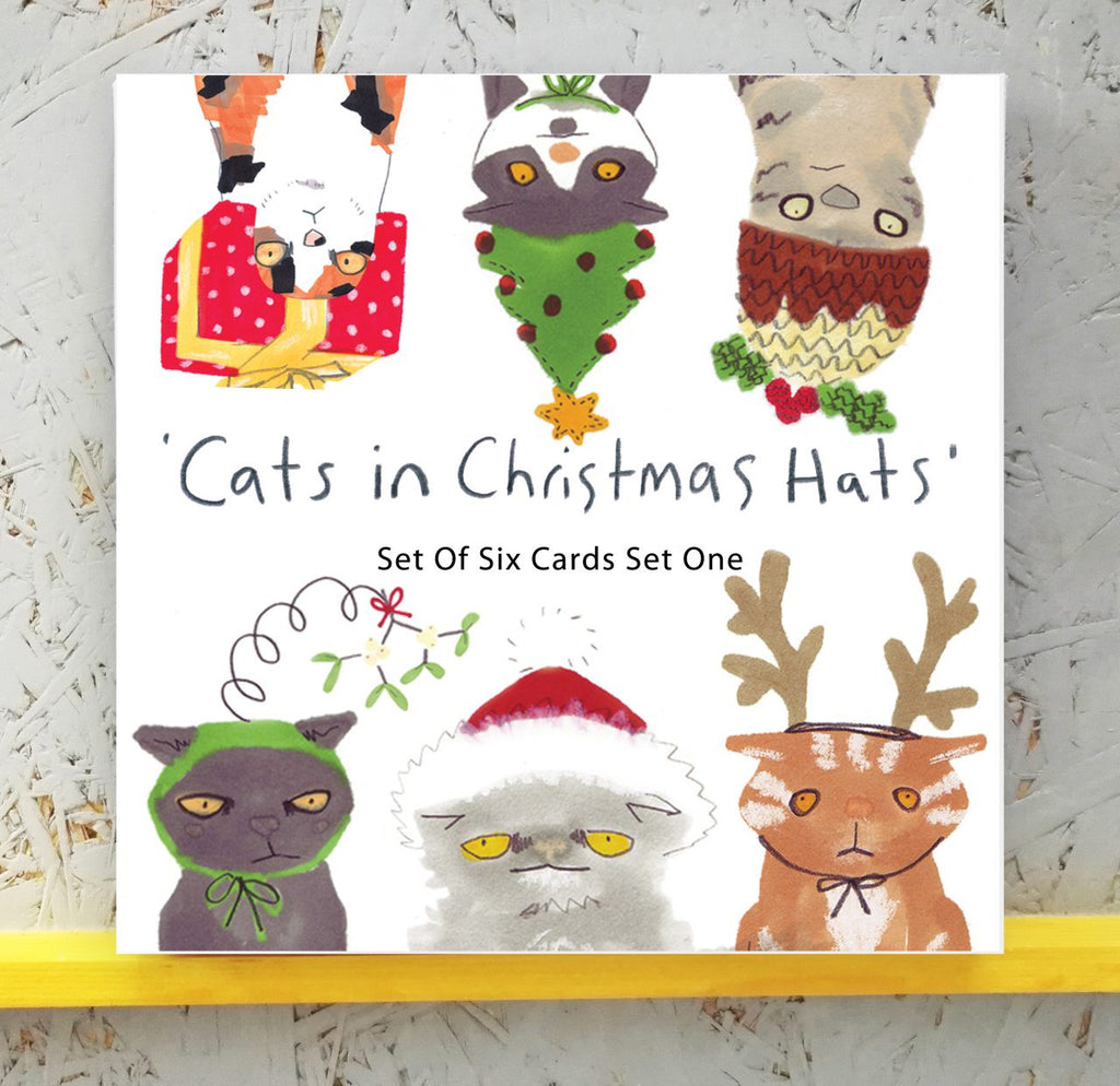 Cats In Hats Box of Christmas Cards