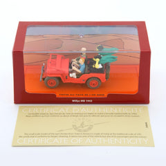 Tintin Thompsons Red Jeep