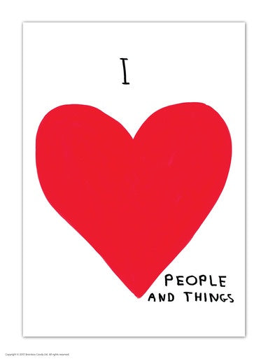 I Love People and Things Postcard