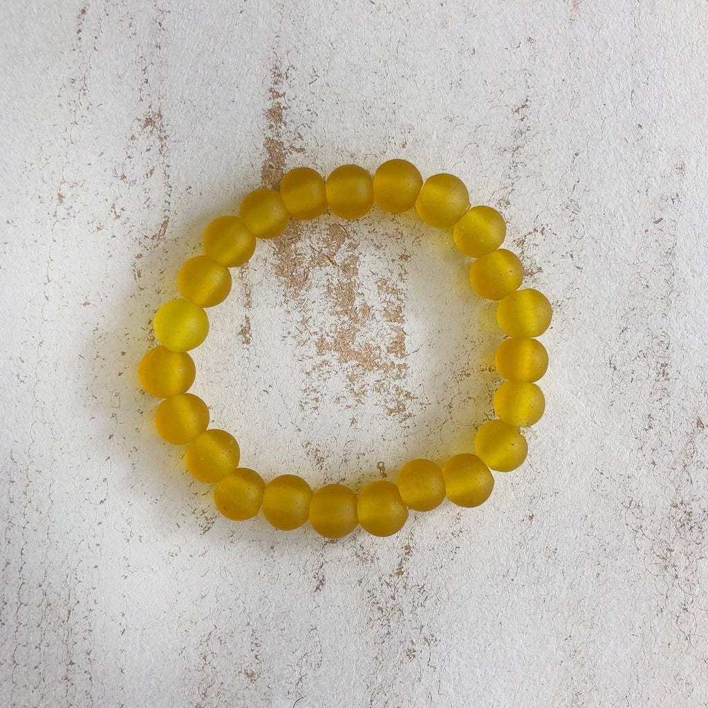 Nailo Translucent Lemon Yellow Bracelet