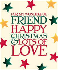 Emma Bridgewater Special Friend Christmas Card