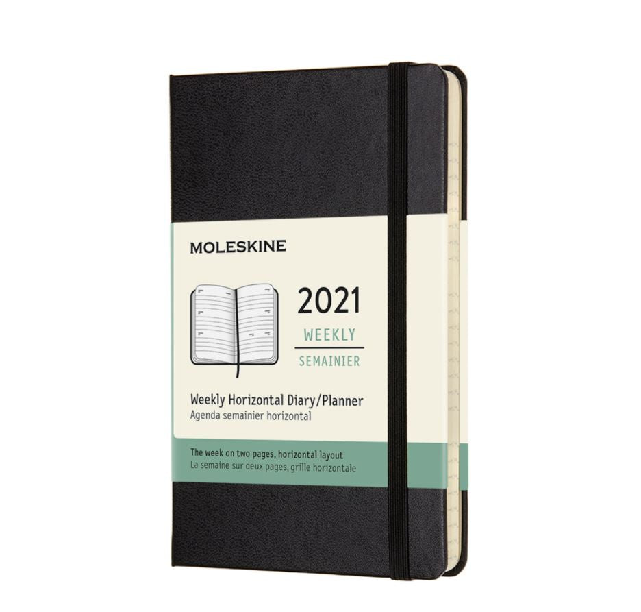 Moleskine 2021 Pocket Weekly Horizontal Planner Hardcover Black