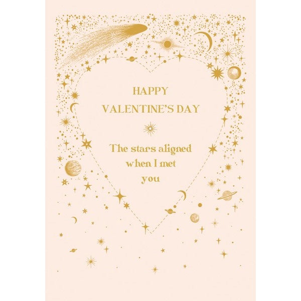 Stars Aligned when I Met You Valentine's Day Card