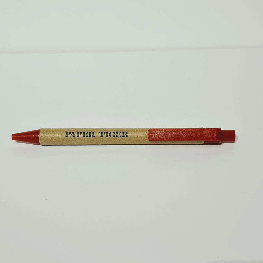 Paper Tiger Recycled Pen Red