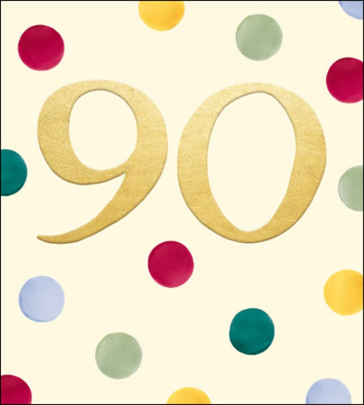 90th Birthday Dots Card