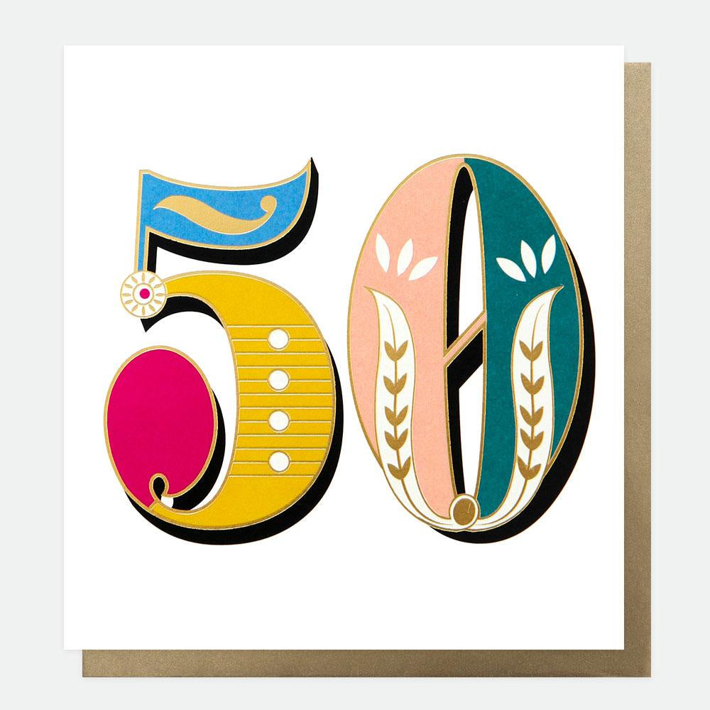 Age 50 Carnival Card