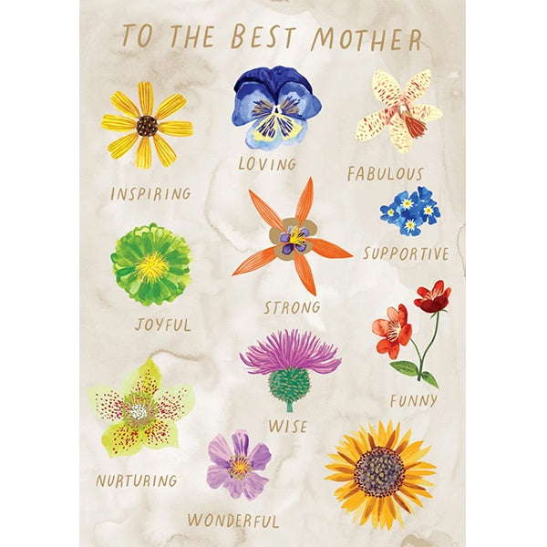 Inspiring Flowers Mother's Day Card