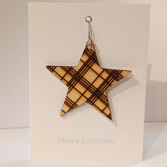 Star Bauble Christmas Card